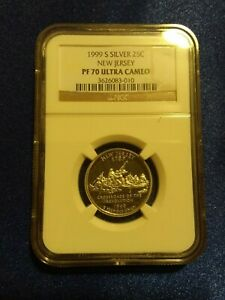 NGC 70 PF UCAM 1999 S Silver 25C New Jersey State Quarter Proof