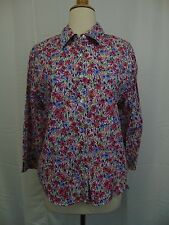 Alfred Dunner Petite Long Sleeve Floral Button Down Top 12P Multi Color #3359