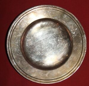 Vintage silver plated plate dish