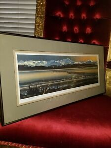 End of the Road Homer Alaska Signed Lithograph Byron Birdsall 1993 Print 24/950