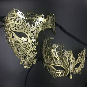 Couples Masquerade Mask Gold Venetian Party Masquerade Masks