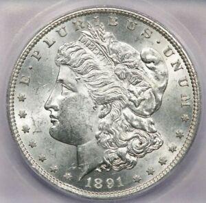 1891-S 1891 Morgan Dollar $1 ICG MS62 VAM-3 Top 100