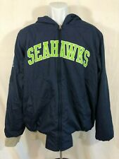 NFL Football Seattle Seahawks Reverse Zip-Up Hooded Jacket