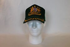 Vintage Green Australia Coat of Arms Bicentenary Mesh Adjustable Trucker Hat Cap