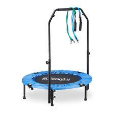 Trampolin mit Stange Minitrampolin Tasche Fitnesstrampolin Expander 100 cm klein