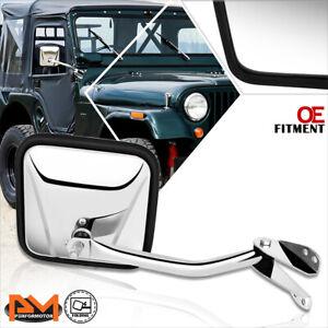 For 60-86 Jeep CJ3/CJ5/CJ6/CJ7 OE Style Manual Side Rear View Door Mirror Right