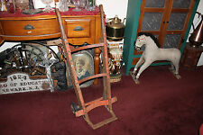 Antique Industrial Commercial Hand Cart Hand Truck-Metal & Wood-Country Decor