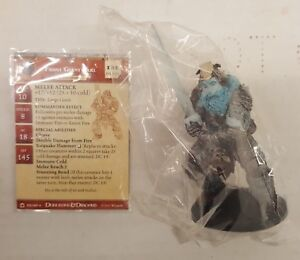 D&D Dungeons & Dragons Miniatures - Night Below: Frost Giant Jarl #52 w/Card