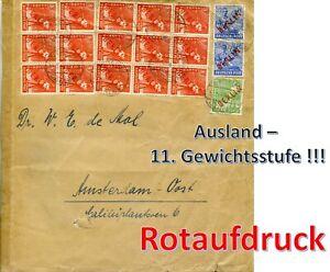 Berlin 1949 Rotaufdruck - Auslands-Porto - 11. Gew.stufe !!!!!