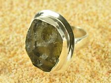 Moldavite rough ring silver.925 - US 6 1/2 - 43.45cts RING749