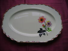 1936+ MYOTT OVAL PLATTER WITH A FLOWER AND LEAF PATTERN