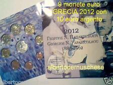 2012 9 monete 13,88 EURO fdc Grecia greece grece Griechenland Hellas Papanicolau