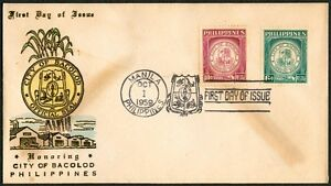Philippine 1959 Honoring The City Of BACOLOD FDC