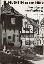 Stadtspiegel Mülheim an der Ruhr 1971 - 1986 Geschichte Kultur Sport Werbung NRW