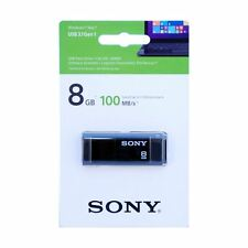 Sony 8GB MicroVault X Series - Fast USB 3.1 Flash Drive in Black. USM8X
