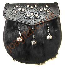 SCOTTISH FULL DRESS KILT SPORRAN & Kilt Traditional Wallet  & CHAIN BELT