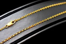22 CARAT YELLOW GOLD ROUND LINK CHAIN MEN WOMEN UNISEX JEWELRY COLLECTION