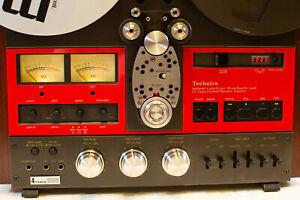 Red Technics Lower Faceplate Inserts Technics Tape Deck Fits 1500 1506