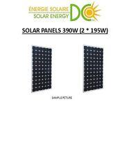 Solar Panel Panneau Solaire 390 W Watt 2 * 195 W mono 12V cottage MC4 boat RV 12
