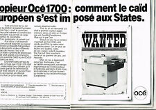 PUBLICITE ADVERTISING 065  1980  OCE  copieur 1700   (2p)