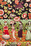 Alexander Henry Folklorico Frida La Catrina Eggplant Cotton Fabric by Yard