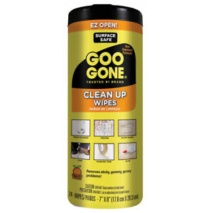 Goo Gone Tough Task Clean Up Wipes - Adhesive Remover, 24 pack