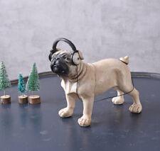 MOPS SKULPTUR MOPSFIGUR Dekomops CARLIN HUND HUNDEFIGUR MÖPSE Bulldogge Dekohund