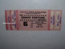 Sonny Fortune Unused 1980 Concert Ticket Austin Tx Miles Davis Armadillo Hq Rare