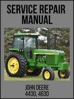 John Deere 4430 & 4630 Tractor Service Technical Manual TM1172 USB