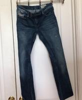 Diesel Womens Livy Biker Jeans Blue Dark Wash Denim Stretch Slim Skinny Leg 30