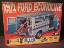 Vintage MPC 1971 Ford Econoline Van - 1/20 Scale 3 in 1 Model Kit, Mint Contents