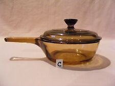 (C) VISION CORNING 0.5L AMBER SAUCE POT WITH LID