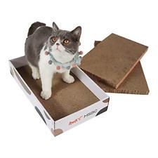 New listing Cat Scratcher Cardboard Catnip Kitty Scratching Pad Recycle Corrugate Cat Bed.