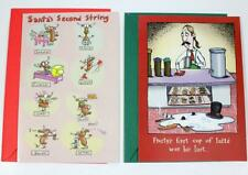 Lot of 2 Humorous Christmas Cards Tomato & Gibson Frosty Snowman Reindeer