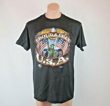 New listing Vtg 1990 3D Emblem Just Brass Proud & Free Usa T-shirt sz L Deadstock Patriotic