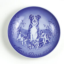 Bing & Grondahl 2010 Mother's Day Coll Plate, Mors Dag, Border Collie w/ Puppies