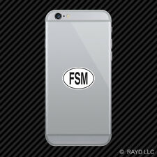 FSM Federated States of Micronesia Country Code Oval Cell Phone Sticker Mobile