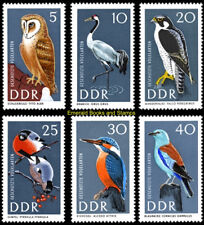 EBS East Germany DDR 1967 Protected birds Michel 1272-1277 MNH*