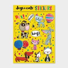 Childrens Fun Stickers | Cats Dogs Party Bag Favours Stocking Fillers