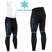 Winter Mens Cycling Bib Tights Thermal Padded Long Legging Cycling Trouser pant