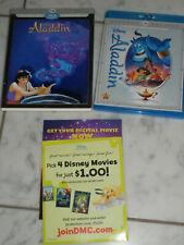 Aladdin Blu-Ray/DVD 2-Disc Set with Lenticular Slipcover Diamond Edition RARE