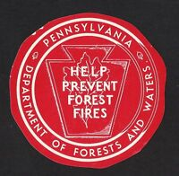Pennsylvania Department of Forest and Waters - Prevent Forest Fires
