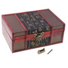 Boîte de rangement en bois de boucle d'oreille de boîte à bijoux de style