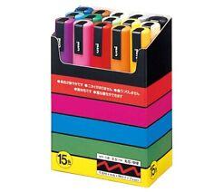 Uni-posca Paint Marker Pen - Medium Point - Set of 15 (PC-5M15C) FedEex Priority