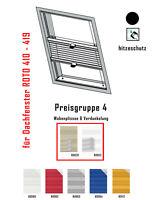 Dachfenster Plissee Verdunkelung für Roto Hitzeschutz Typ 410 - 419 nach Maß
