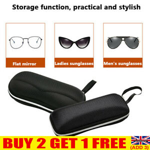 Zipper Sunglasses Case Box Black Hard Shell Portable Eyeglasses Protector YE