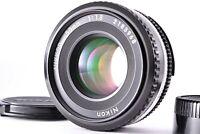 Mint Nikon Nikkor Ai-S AIS 50mm f/1.8 Pancake Prime Lens MF From Japan Caps SLR