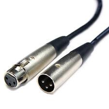5x 5m 3 Pin Xlr Cable MacHo a Hembra - Audio Pro Micrófono Altavoz Mezclador