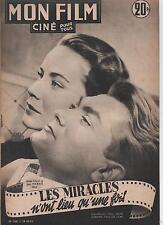 Mon FILM. n°268. Jean MARAIS. Les Miracles n'ont lieu qu'une fois. 1951