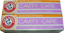 2 x ARM AND HAMMER GREEN MINT GEL CAVITY CARE BAKING SODA TOOTHPASTE - MINTY GEL